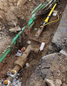 gas meter underground set up